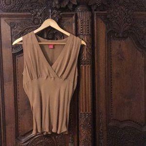 Caramel nude tone blouse.